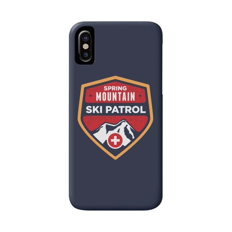 Spring Mountain Ski Patrol Reverse in iPhone X / XS Phone Case Slim by Walters Media & Design