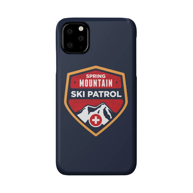 Spring Mountain Ski Patrol Reverse Accessories Phone Case by Walters Media & Design