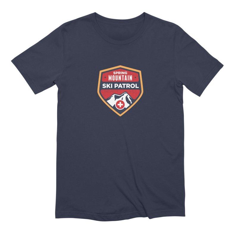 Spring Mountain Ski Patrol Reverse in Men's Extra Soft T-Shirt Navy by Walters Media & Design
