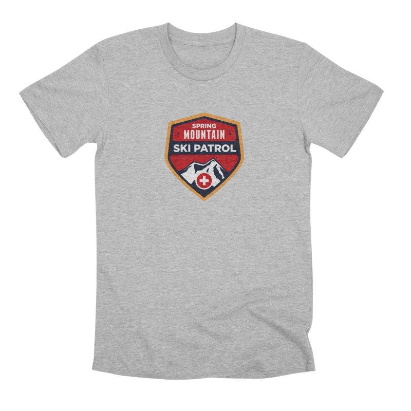 Spring Mountain Ski Patrol Reverse Men's Premium T-Shirt by Walters Media & Design
