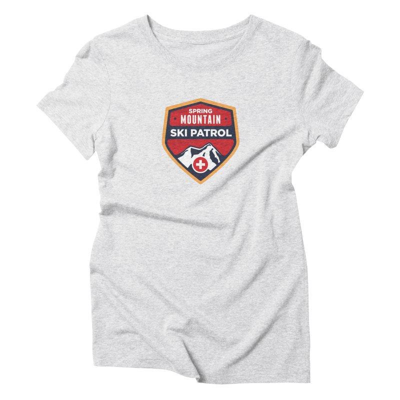 Spring Mountain Ski Patrol Reverse Women's Triblend T-Shirt by Walters Media & Design