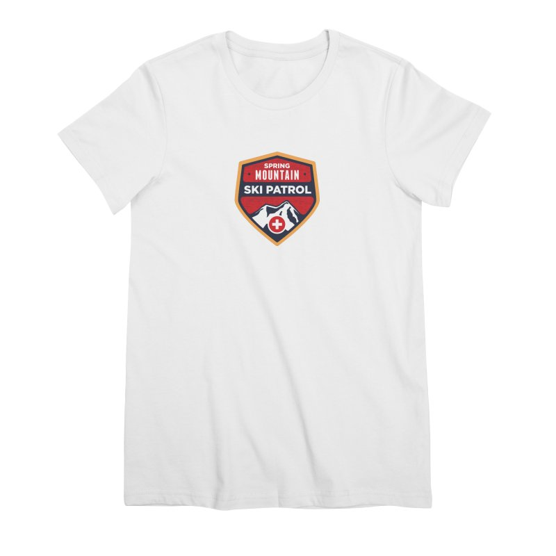 Spring Mountain Ski Patrol Reverse Women's Premium T-Shirt by Walters Media & Design