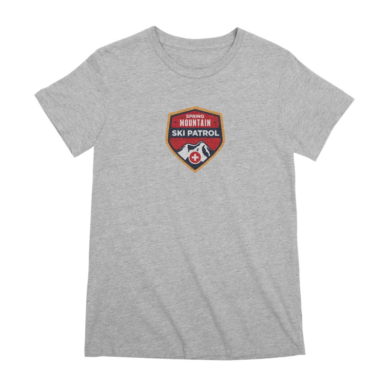 Spring Mountain Ski Patrol Reverse Women's Premium T-Shirt by Walters Media & Design