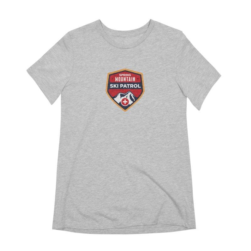 Spring Mountain Ski Patrol Reverse Women's Extra Soft T-Shirt by Walters Media & Design