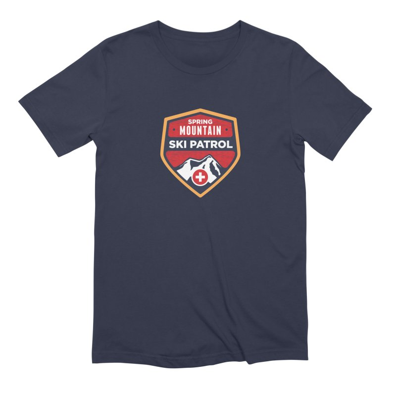 Spring Mountain Ski Patrol Reverse in Men's Extra Soft T-Shirt Navy by Walters Media & Design