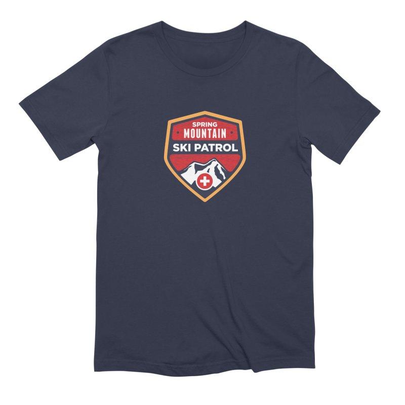 Spring Mountain Ski Patrol Reverse Men's Extra Soft T-Shirt by Walters Media & Design