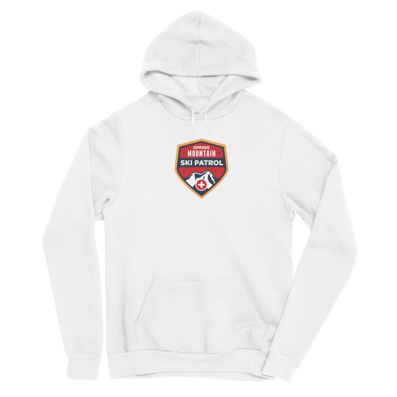 Spring Mountain Ski Patrol Reverse Women's Pullover Hoody by Walters Media & Design
