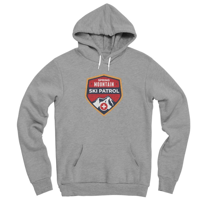 Spring Mountain Ski Patrol Reverse Men's Sponge Fleece Pullover Hoody by Walters Media & Design