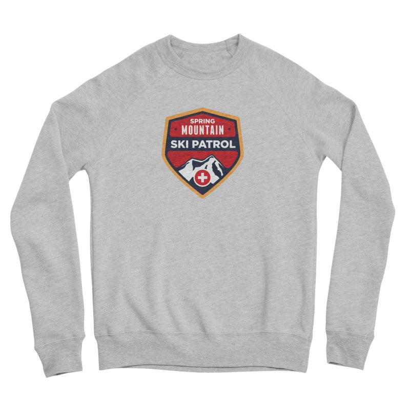 Spring Mountain Ski Patrol Reverse Women's Sponge Fleece Sweatshirt by Walters Media & Design