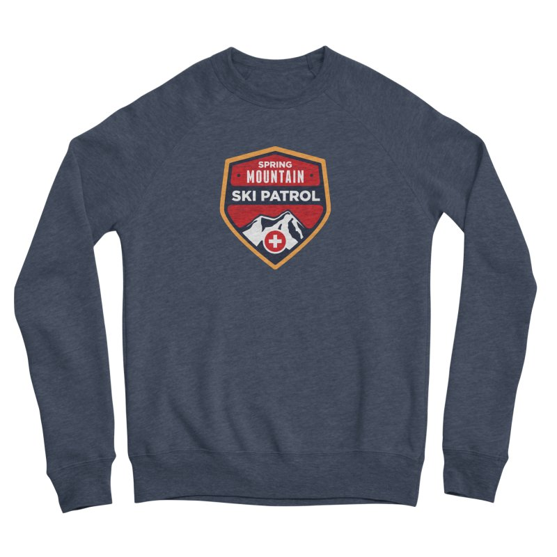 Spring Mountain Ski Patrol Reverse Men's Sponge Fleece Sweatshirt by Walters Media & Design