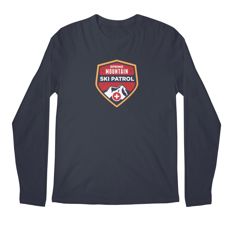 Spring Mountain Ski Patrol Reverse in Men's Regular Longsleeve T-Shirt Midnight by Walters Media & Design