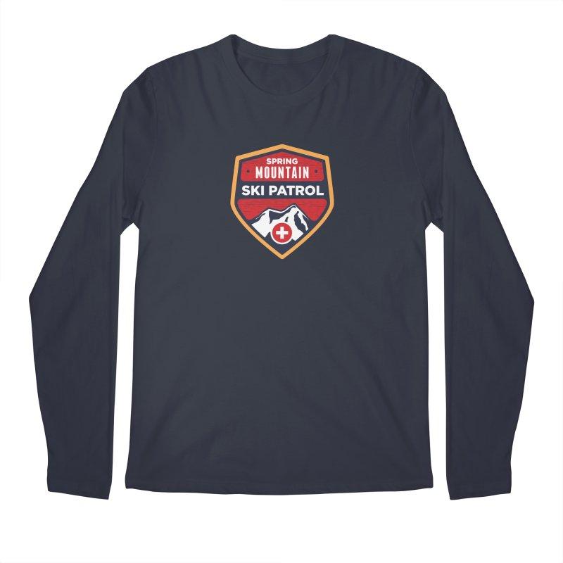 Spring Mountain Ski Patrol Reverse in Men's Regular Longsleeve T-Shirt Midnight by Walters Media & Design