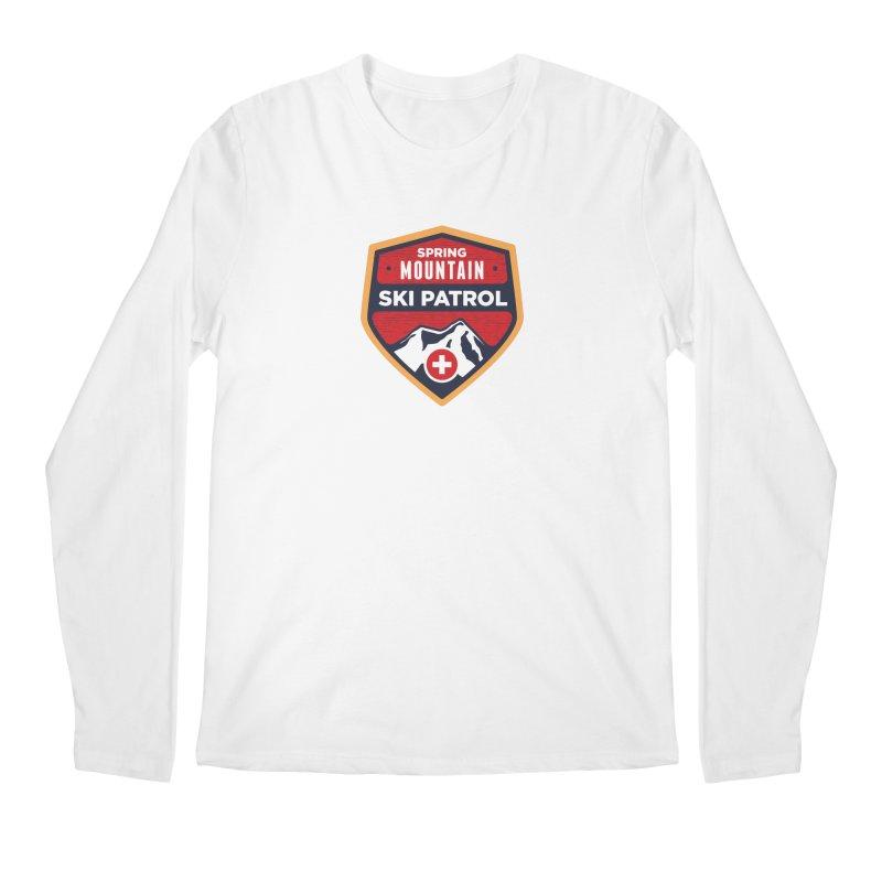 Spring Mountain Ski Patrol Reverse Men's Regular Longsleeve T-Shirt by Walters Media & Design
