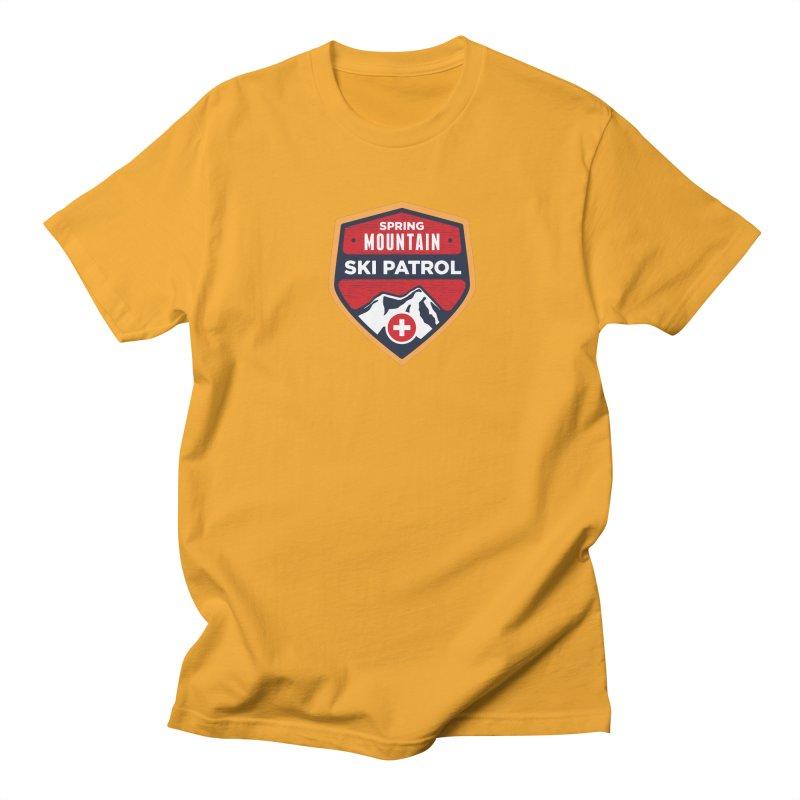 Spring Mountain Ski Patrol Reverse Men's Regular T-Shirt by Walters Media & Design