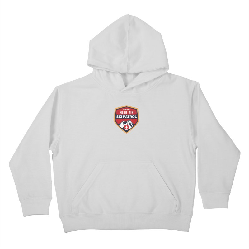 Spring Mountain Ski Patrol Reverse Kids Pullover Hoody by Walters Media & Design