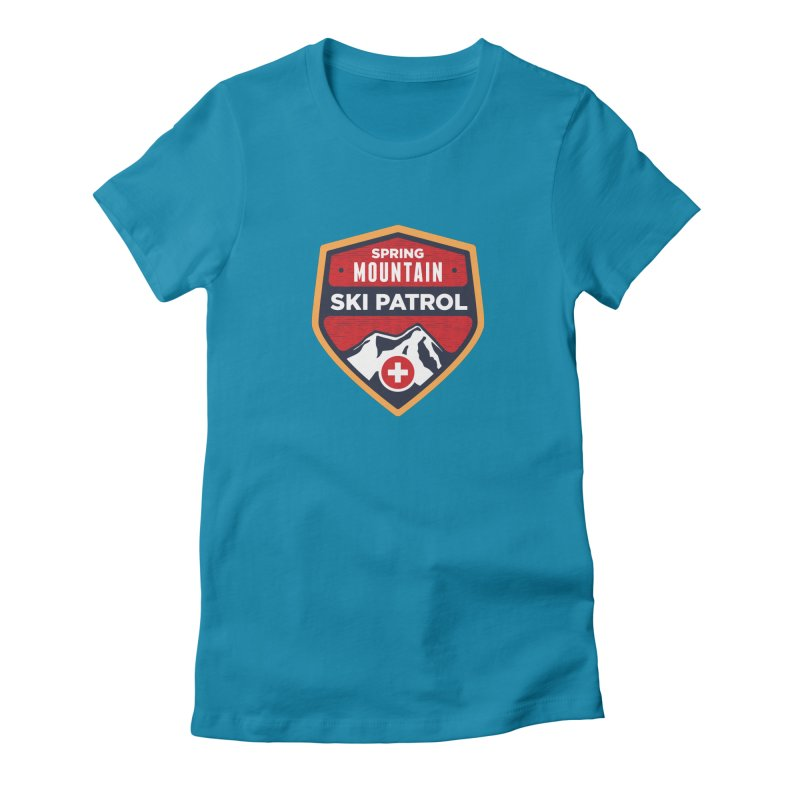 Spring Mountain Ski Patrol Reverse Women's Fitted T-Shirt by Walters Media & Design