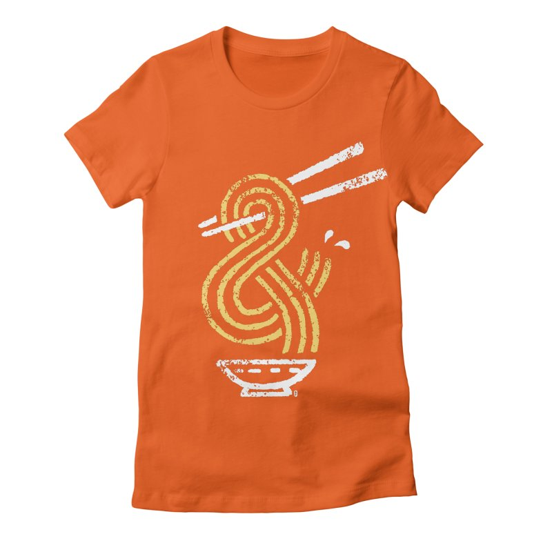 Ramen Ampersand Women's Fitted T-Shirt by Petiches's Artist Shop