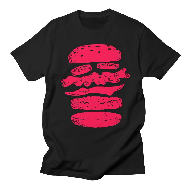 Burger Men's T-shirt by Petiches's Artist Shop