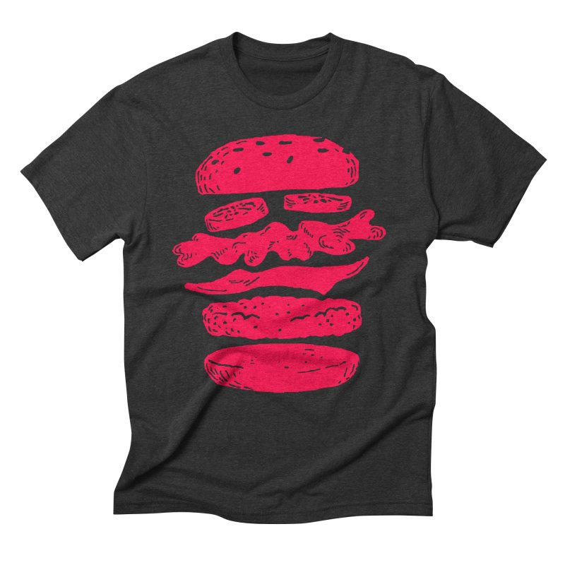 Burger Men's Triblend T-Shirt by Petiches's Artist Shop