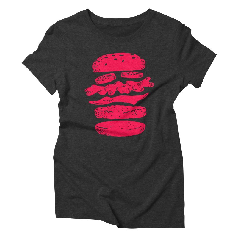 Burger Women's Triblend T-shirt by Petiches's Artist Shop