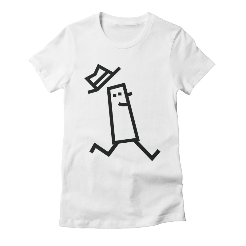 Hat Women's Fitted T-Shirt by Petiches's Artist Shop