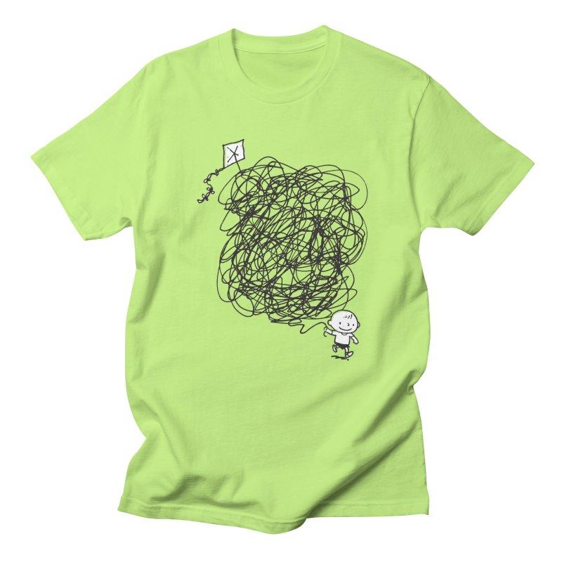 Scribble Kite Men's Regular T-Shirt by Petiches's Artist Shop