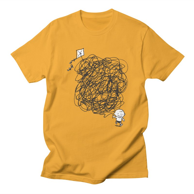 Scribble Kite Men's T-shirt by Petiches's Artist Shop