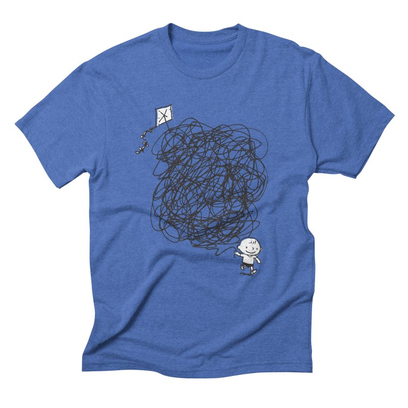 Scribble Kite Men's Triblend T-Shirt by Petiches's Artist Shop