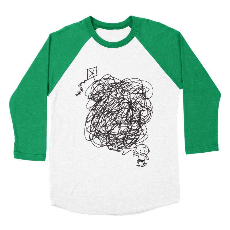 Scribble Kite Men's Baseball Triblend Longsleeve T-Shirt by Petiches's Artist Shop