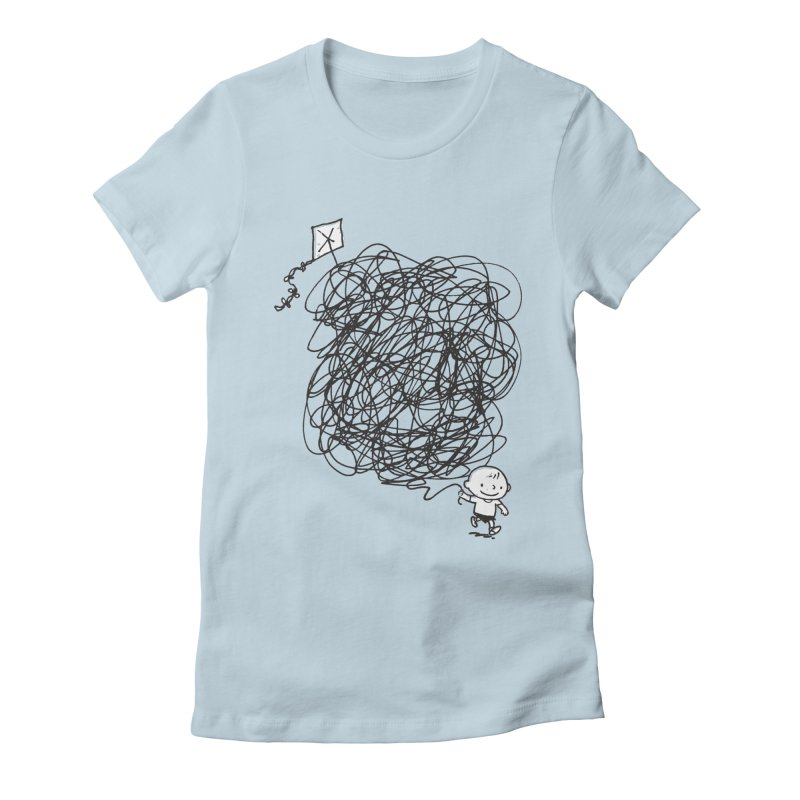 Scribble Kite Women's Fitted T-Shirt by Petiches's Artist Shop