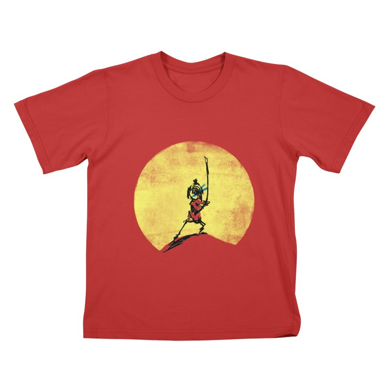 Kubo's Hero Stance Kids T-shirt by Petiches's Artist Shop