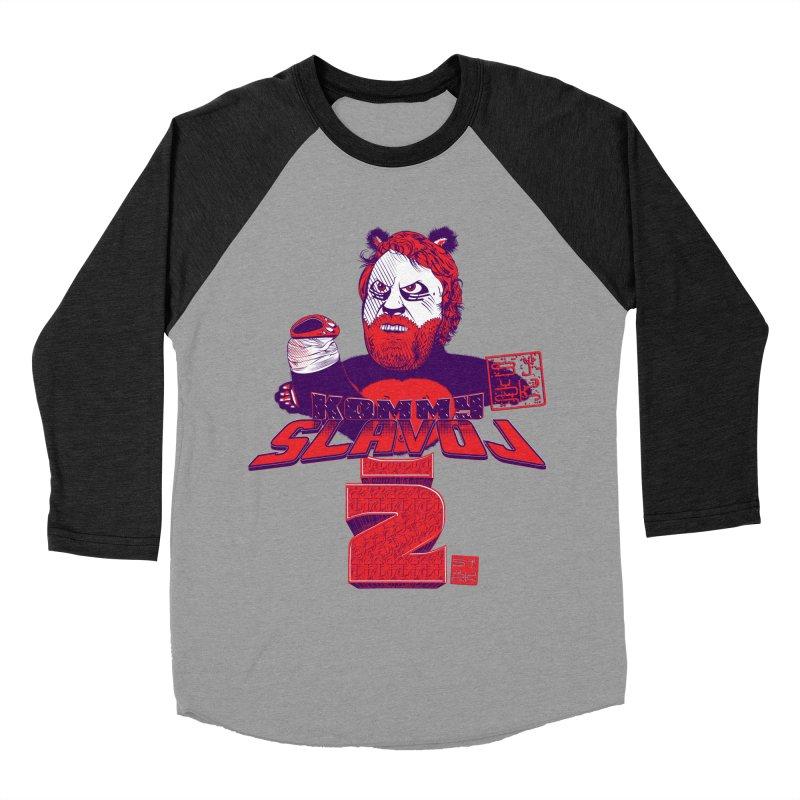 Kommy Slavoj Z. Men's Baseball Triblend T-Shirt by petitnicolas's Artist Shop