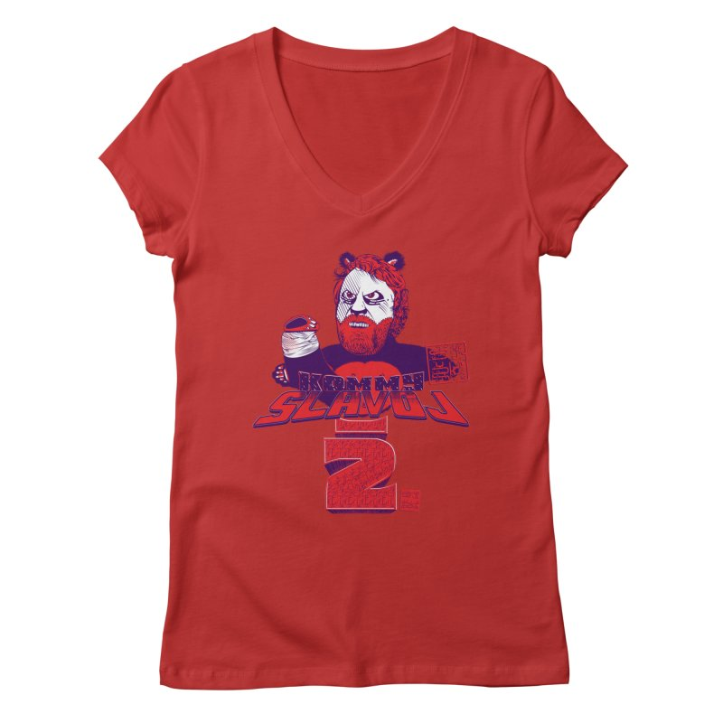 Kommy Slavoj Z. Women's V-Neck by petitnicolas's Artist Shop