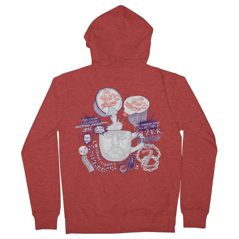 Zizek's Without-cream Creamer Men's Zip-Up Hoody by petitnicolas's Artist Shop