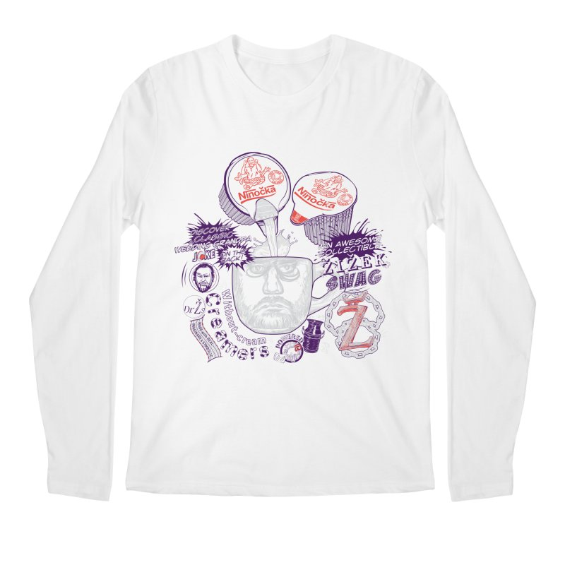 Zizek's Without-cream Creamer Men's Longsleeve T-Shirt by petitnicolas's Artist Shop