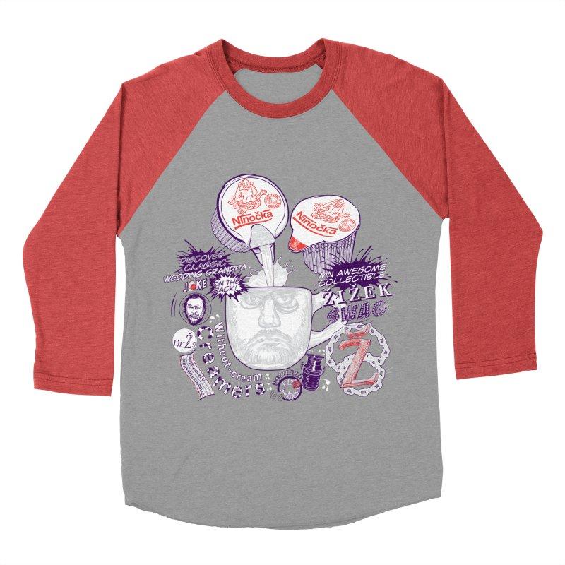 Zizek's Without-cream Creamer Men's Baseball Triblend T-Shirt by petitnicolas's Artist Shop