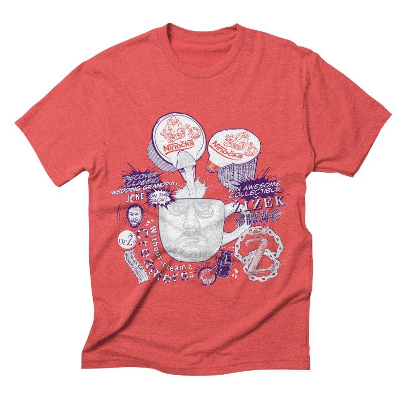Zizek's Without-cream Creamer Men's Triblend T-shirt by petitnicolas's Artist Shop