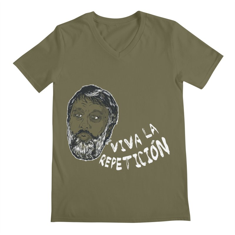 Viva la Repeticion ! Men's V-Neck by petitnicolas's Artist Shop