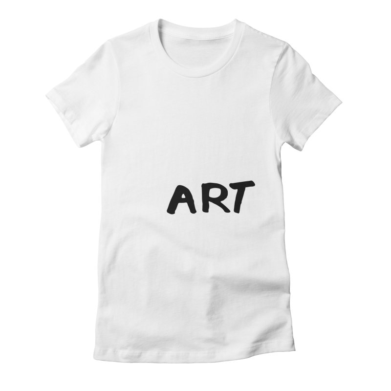 Art Women's Fitted T-Shirt by Petty Designs