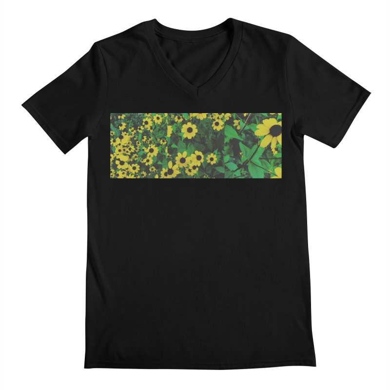 Yellow Flowers Men's V-Neck by Petty Designs