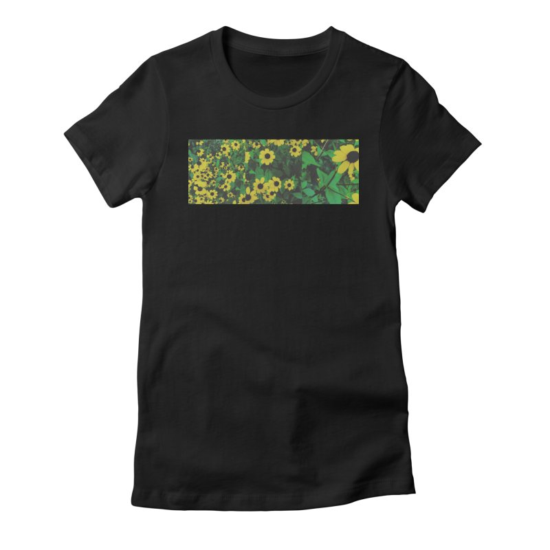Yellow Flowers Women's Fitted T-Shirt by Petty Designs