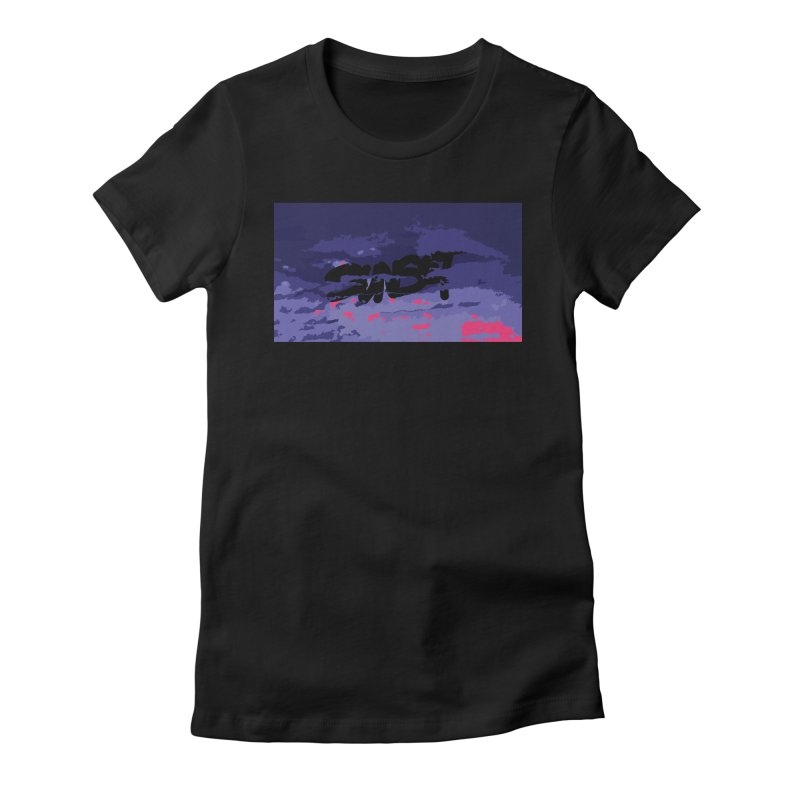 Sunset Women's Fitted T-Shirt by Petty Designs