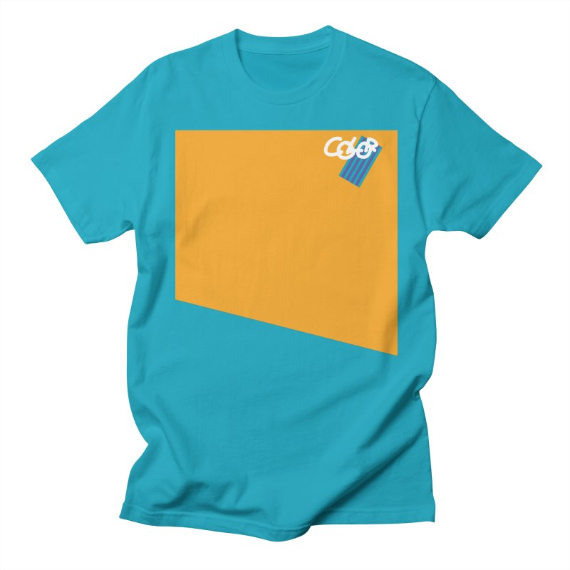 Beach. COLOR Collection in Men's T-Shirt Cyan by Petty Designs