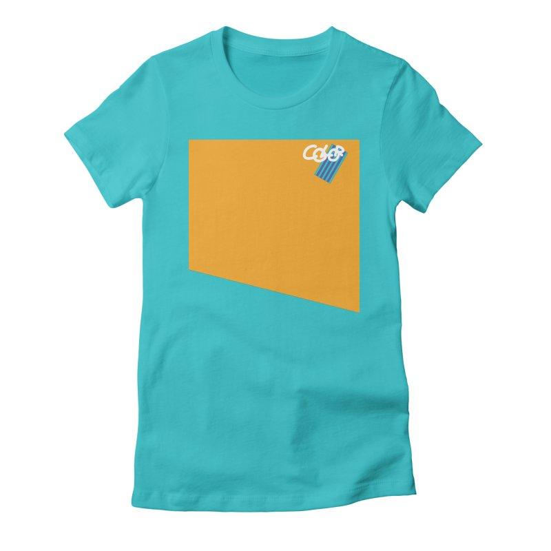 Beach. COLOR Collection Women's Fitted T-Shirt by Petty Designs