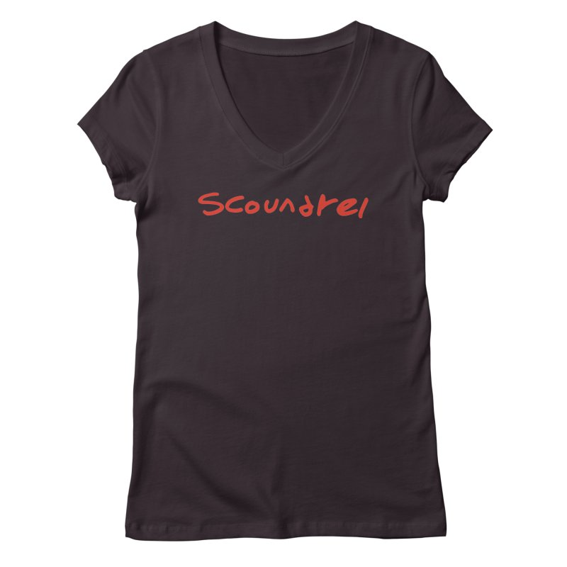 Scoundrel. Red Handed Women's V-Neck by Petty Designs