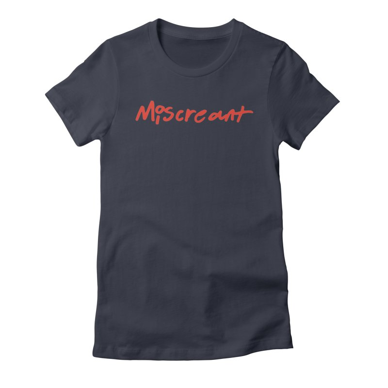 Miscreant. Red Handed Women's Fitted T-Shirt by Petty Designs