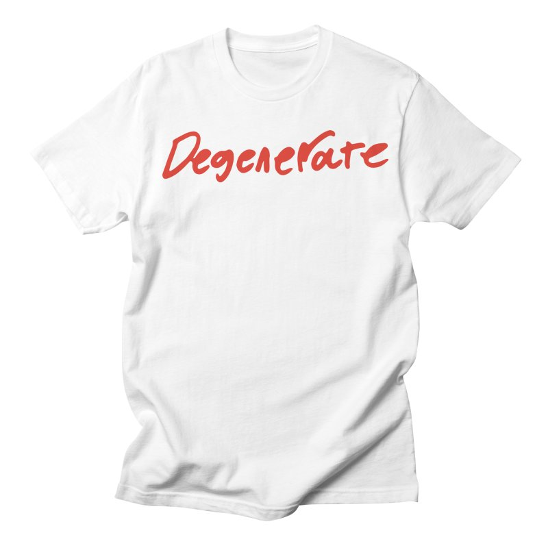 Degenerate. Red Handed Men's T-Shirt by Petty Designs