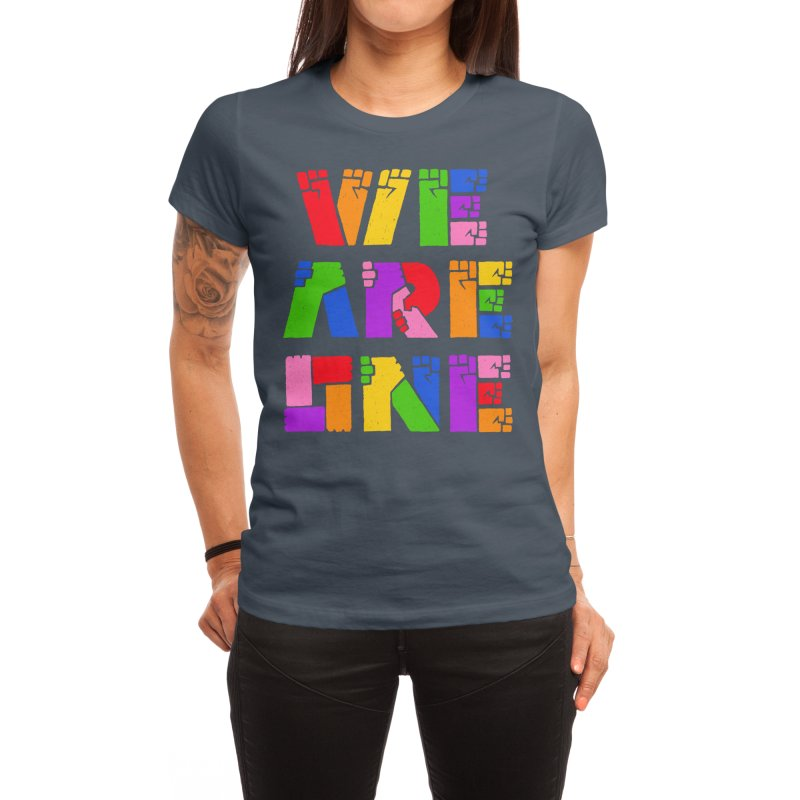 WE ARE ONE PRIDE Women's T-Shirt by PEZ BANANA