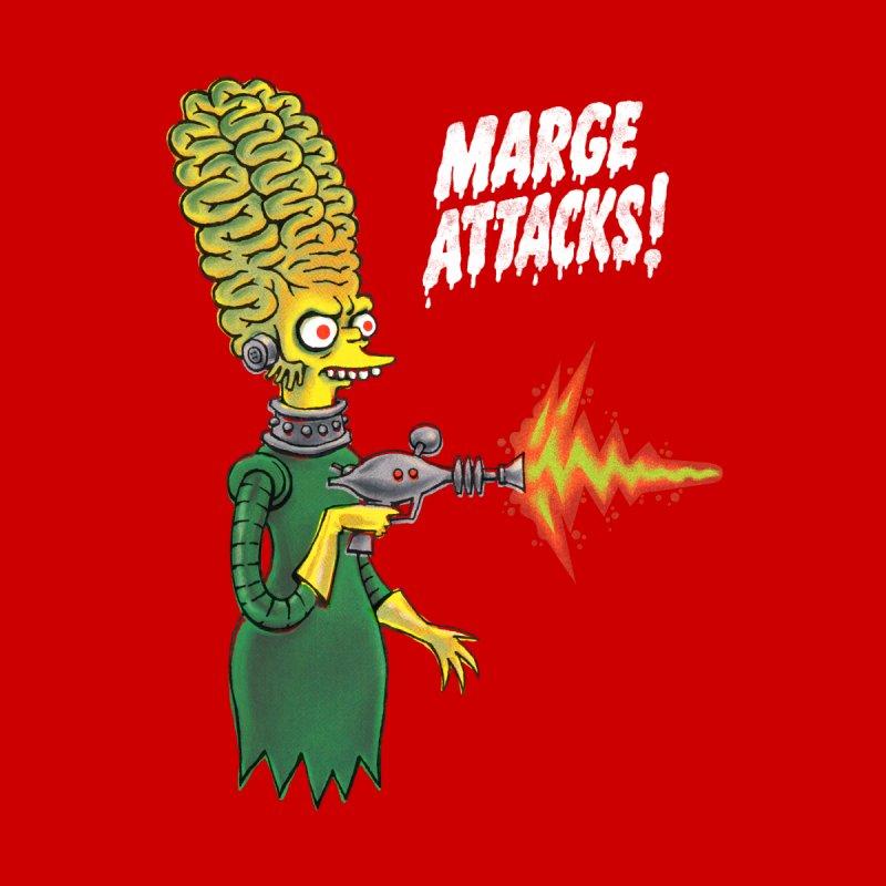 MARGE ATTACKS Men's T-Shirt by PEZ BANANA