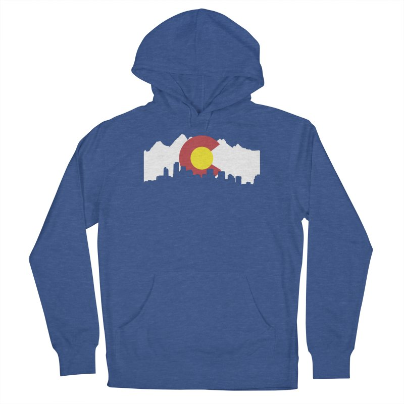 Colorado Flag in Men's French Terry Pullover Hoody Heather Royal by Peter Fiorella's Shop